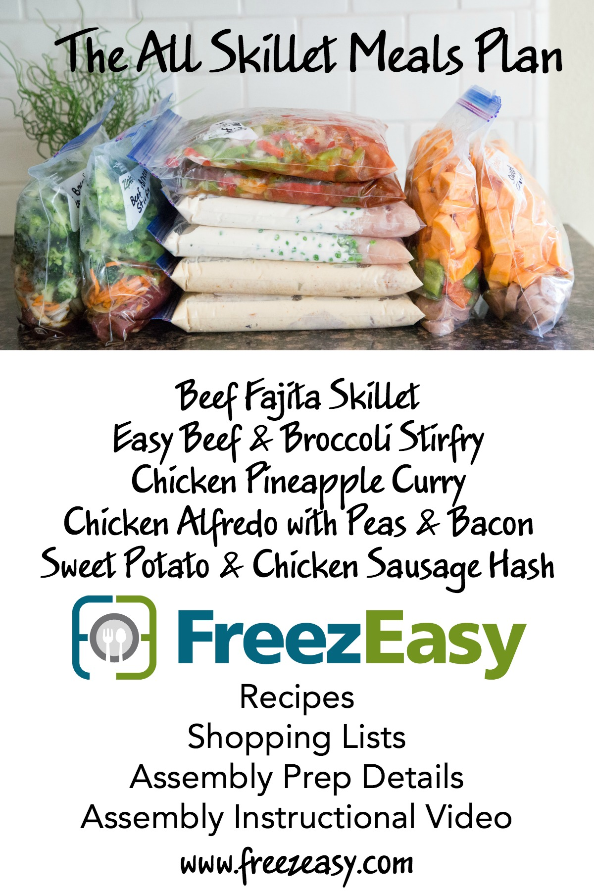 All Skillet Meals Plan from FreezEasy.com