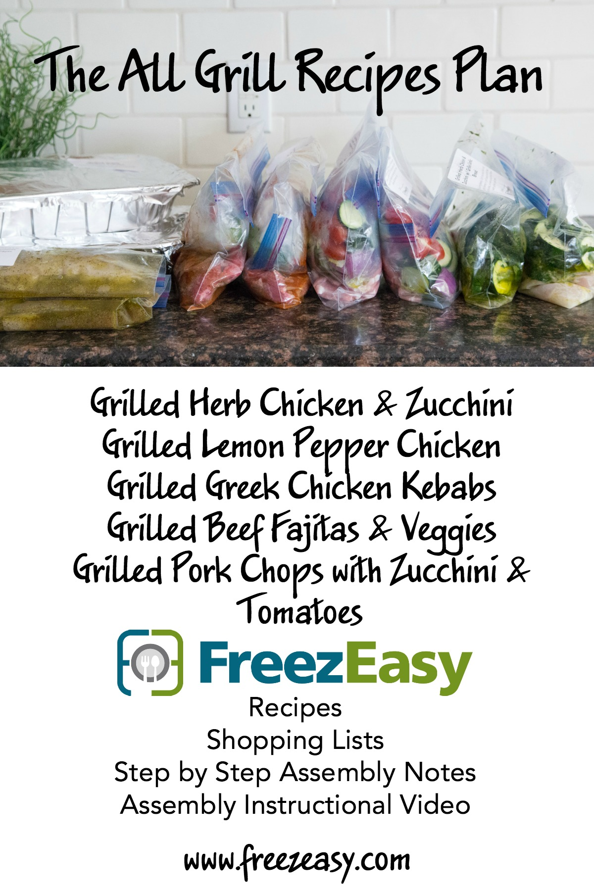 The All Grill Recipes Meal Plan from FreezEasy.com